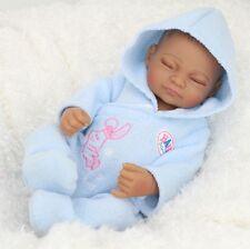 "11"" Looking Vinyl Silicone Newborn Black Baby Handmade Reborn Doll free shipping"