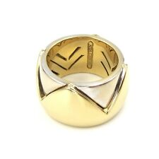 18k Gold Band Ring, Weight 19.2g, Size: 7 See Video Estate 13mm Wide in Two Tone