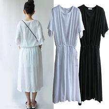 Unbranded Cotton Blend Regular Size Maxi Dresses for Women