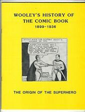 Wooley's History of the Comic Book: 1899-1936 Origin Superhero (1986) Vf