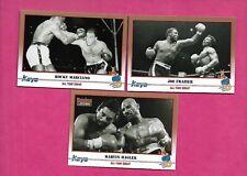 1991 KAYO BOXING FRAZIER + HAGLER + MARCIANO  NRMT-MT CARD  (INV# C2766)