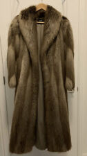 Real Beaver Fur Coat - Full Length