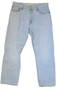 levis mens denim jeans worn regular fit casual outdoor wear blue size 36w 30l