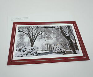 OFFICIAL 2010 OBAMA WHITE HOUSE HOLIDAY CHRISTMAS CARD PETE SOUZA w/ ENVELOPE