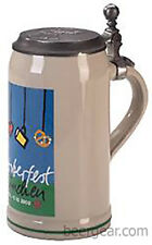 2000 Munich Oktoberfest Stein with Pewter Lid - Genuine Krugs - Stocked in USA