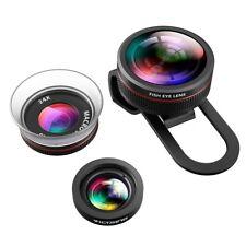 Lentille Fisheye, [lentilles + Boîte Cadeau] 3 en 1 Clip-On Téléphone Appareil Photo Lentille Kit, 2