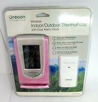 Oregon Scientific Wireless Indoor/Outdoor Thermometer Dual Alarm Clock Digital