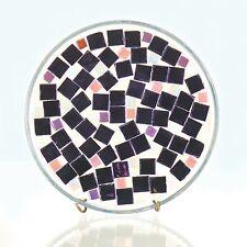 Mosaic Candle Holder/Plate Trivet - Plum, Cream, Pink, Lavender