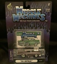 MUSCLE MACHINES---1958 CHEVY IMPALA WITH CARD-----MOC