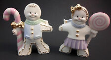 Lenox Gingerbread Boy and Girl Salt And Pepper Set Free Shipping - New In Box