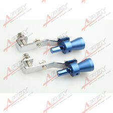 2PCS Universal Turbo Sound Exhaust Whistle/Fake Blowoff BOV Simulator Blue s B