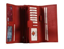 Cenzoni Women's Genuine Long Leather Purse Plain Colours RFID