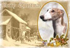Greyhound Dog A6 Christmas Card Design XGREYHND-5 by paws2print