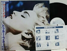 "MADONNA ""True Blue"" orig 1986 Japanese PROMO Lp & card w/obi/lyrics booklet"