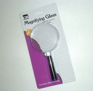 """CL Magnifying Glass 2"""" Lens, Magnifies 2X for Home Office School - NEW"""