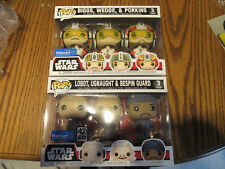 2 Star Wars Funko Pop 3 Pack Cloud City Bespin and X-Wing Pilots BRAND NEW
