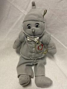 "2001 Wizard of Oz 11"" Tin Man Plush Doll Beanie Enesco Halloween Rare"