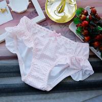 Lolita Bow Pink Lattice Panties Kawaii Ruffle Briefs Waisted Panties Underwear