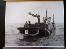 """Lot28 - 1974 British Petroleum OIL SPILL CLEARING DEVICE Seaskimmer 12x10"""" PHOTO"""
