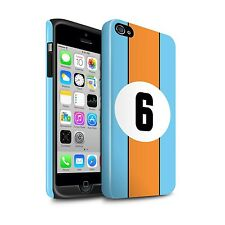 STUFF4 Gloss Tough Phone Case for Apple iPhone Phone/Racing Car Stripes/Cover