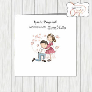 Congratulations On Your Pregnancy Card You're Pregnant Expecting A Baby Mum Dad