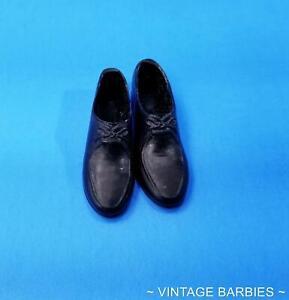 Ken Doll Black Rubber Shoes Japan Near Mint ~ Vintage 1960's