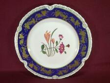 "#2 CHELSEA HOUSE K494 FLORAL DECORATIVE DINNER PLATE 10.75"" - COBALT/GOLD"