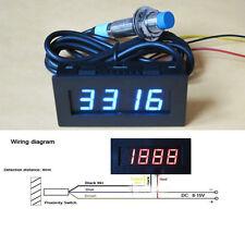 Digital LED Punch Tachometer Drehzahlmesser Speed+Hall Proximity Switch Sensor B