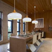 White Pendant Light Kitchen Lamp Wood Chandelier Lighting Modern Ceiling Lights