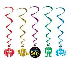 1980's 80's Decade Theme Party HANGING WHIRL DECORATION