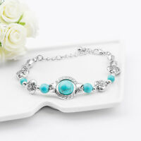 Fashion Vintage Turquoise Adjustable Bracelet Chain Jewelry for Women Gifts