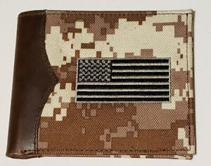 NOCONA DIGITAL CAMO CANVAS w LEATHER DETAIL Bifold WALLET (SAME DAY SHIPPING)