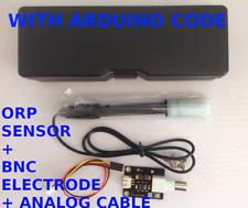 Oxidation-Reduction Potential ORP Sensor Arduino + ORP Electrode (BNC)  + Code