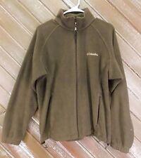Columbia Jacket Fleece Full Zip Brown Women's Size Large