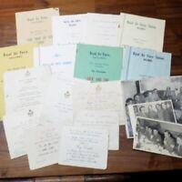 RAF Negombo Ceylon Paperwork Bundle Vintage 1950s Programmes Photos etc