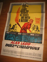 Duel of Champions Original 1sh Movie Poster '64 Alan Ladd united a nation!