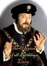 Blackadder Lord Melchett Happy Birthday PERSONALISED ART Card Stephen Fry spoof