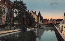 BRUGES BELGIUM LE DYVER CANAL WW1 MILITARY FELDPOST POSTCARD 1916