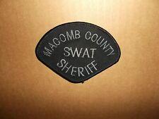 Vintage Macomb County Sheriff Dept Swat Police Uniform Shoulder Patch~MI~New~