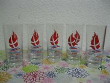 Lot x5 VERRE À SODA JEUX OLYMPIQUES ALBERTVILLE 1992 Olympic Winter Games 92