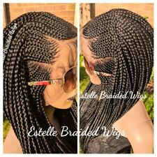 Braided Lace Front Wig, Braids Wig, Braided Wigs, Fulani Braids Wig Lightweight