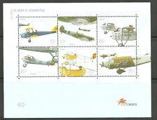 Portugal - 75 Jahre Luftwaffe Militärflugzeuge postfr. 99 Mi. 2347-2353 BL 152