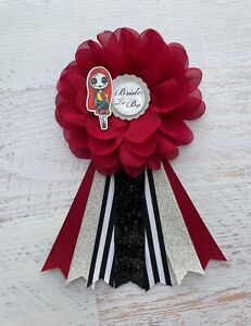 Nightmare Before Christmas/Sally Bridal Shower Corsage,Bride To Be Corsage Pin