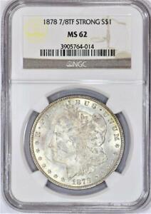 1878 7/8 TF Strong Morgan Dollar NGC MS-62