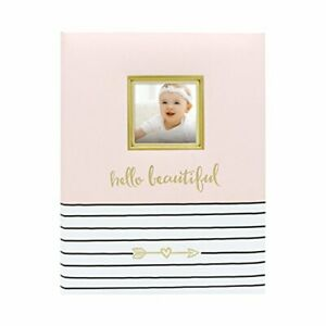 Pearhead Hello Beautiful First 5 Years Baby Memory Book with Photo Insert Bab...