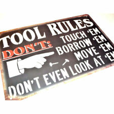 Iron Painting Tool Rules Tin Sign Bar Pub Cafe Wall Decor Art Poster 30x20CM IN2