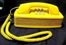 Western Electric Yellow Wicker Design-Line Accent Phone 1970s Wicker Touch Tone