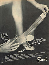 PUBLICITE ADVERTISING    1965   FARNEL  bas & collants