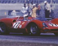 Vintage Color 8X10 Auto Racing Photo 1965 Daytona Ferrari 330 P2 Surtees