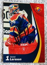 Detroit Red Wings Daniel Larsson Signed 06/07 Djurgardens Card Auto